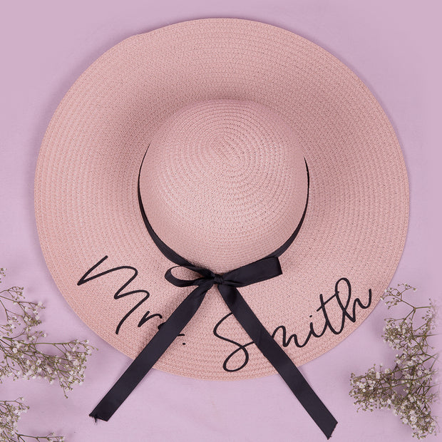 Personalised Floppy Beach Hat with Ribbon - HoorayDays