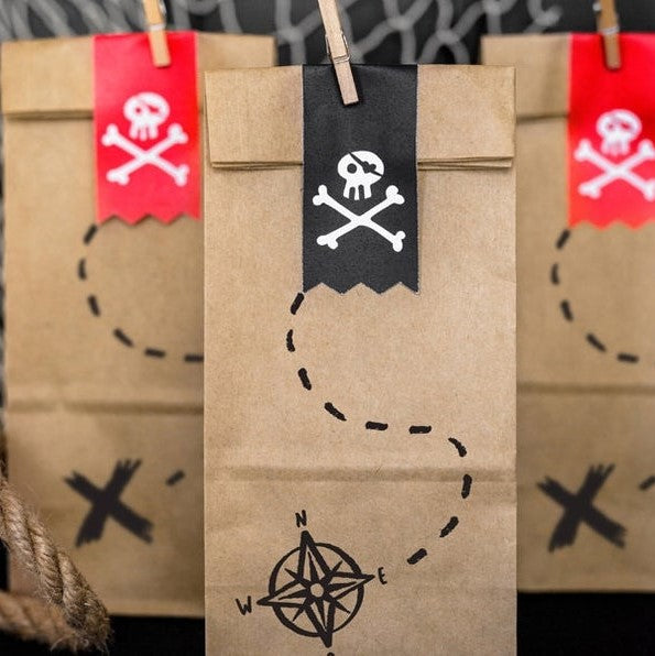 6 Pirate Party Bags - HoorayDays