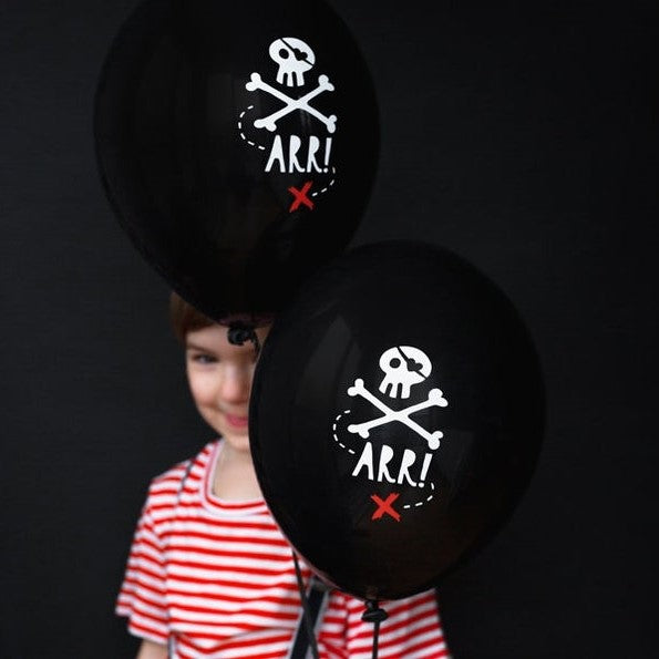 6 Pirate Party Balloons - HoorayDays