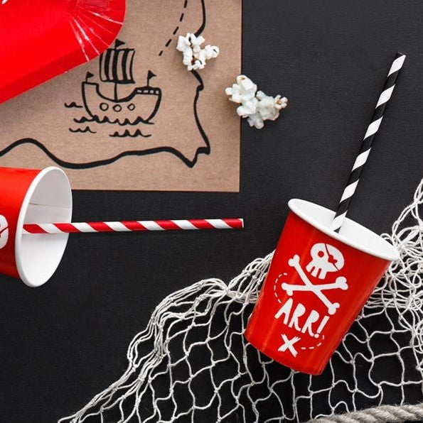 6 Pirate Party Cups - HoorayDays