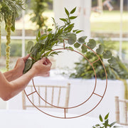 3 Copper Hanging Hoop Wreath - HoorayDays