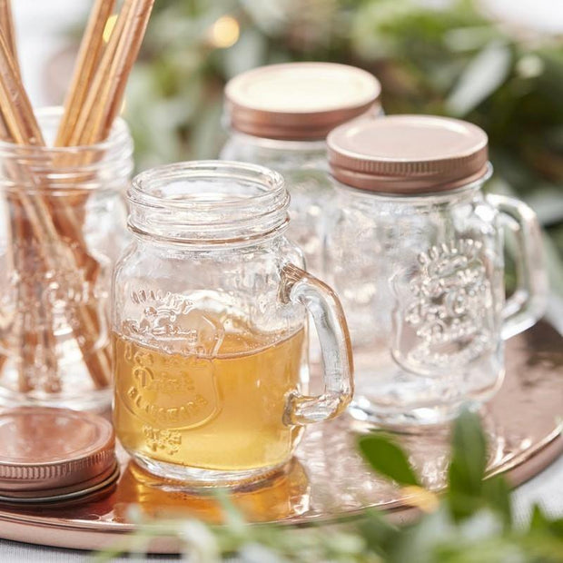 4 Rustic Wedding Mini Mason Jars - HoorayDays