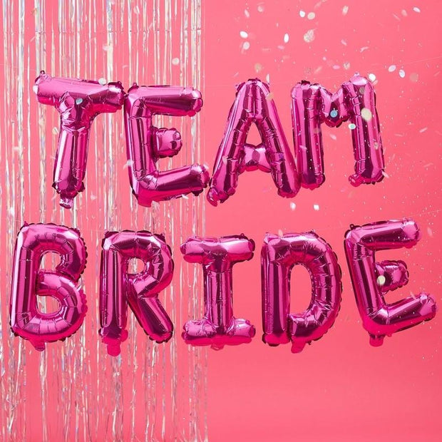 Team Bide Pink Balloon Bunting