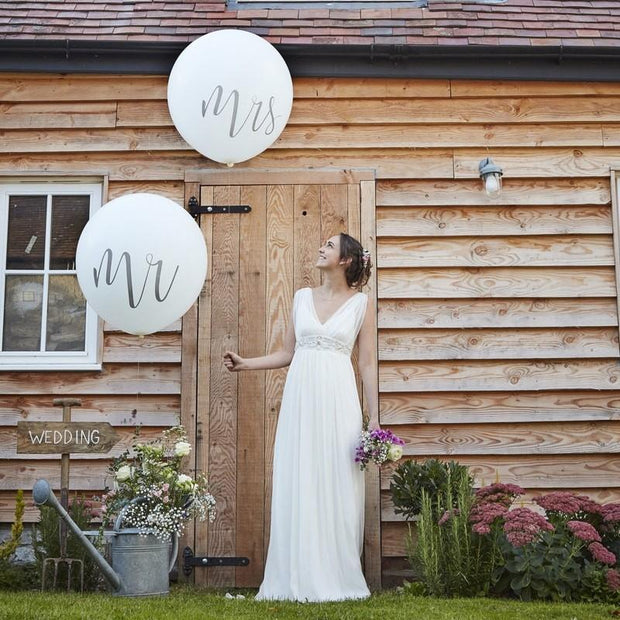 HUGE MR AND MRS BALLOONS - RUSTIC COUNTRY