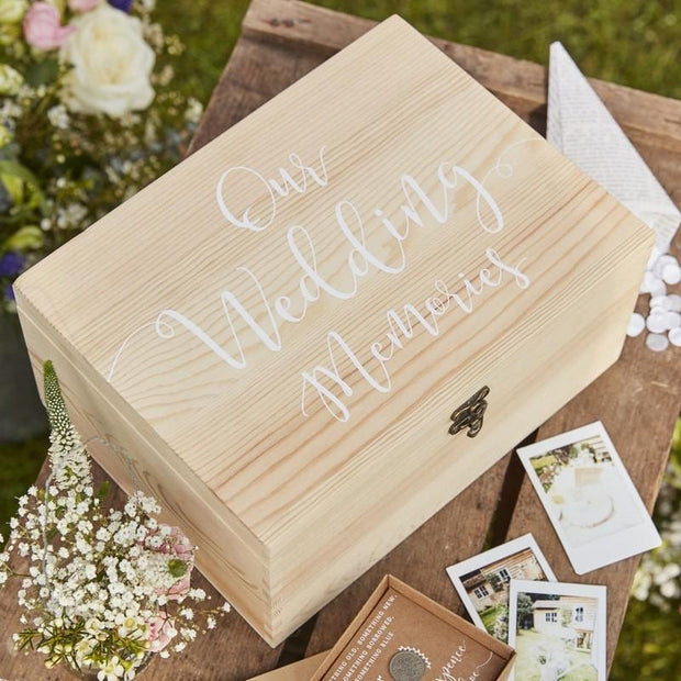 Rustic Wooden Memory Box - HoorayDays