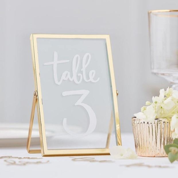 1 Gold Photo Freestanding Frame - HoorayDays