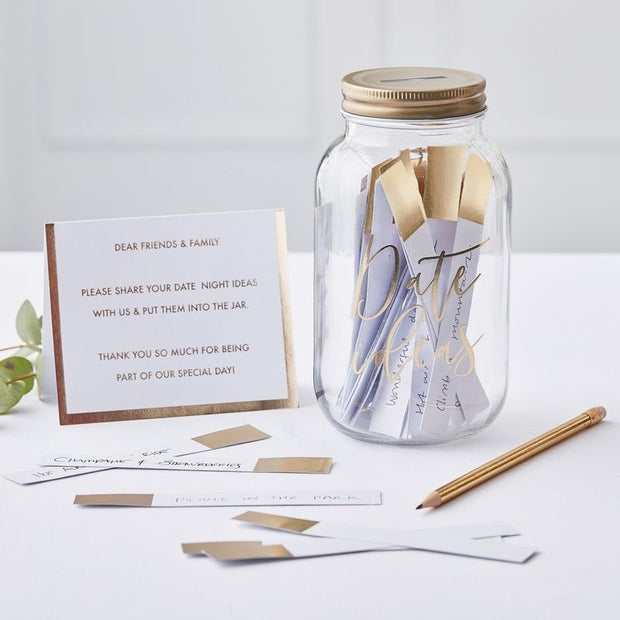 Gold Date Jar Suggestion Guestbook Alternative - HoorayDays