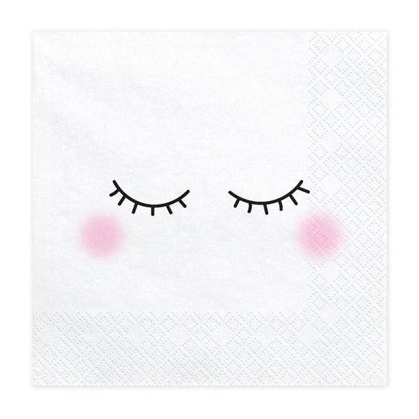 20 White Unicorn Napkins - HoorayDays