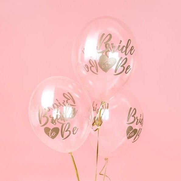 10 Gold 'Bride to Be' Balloons - HoorayDays