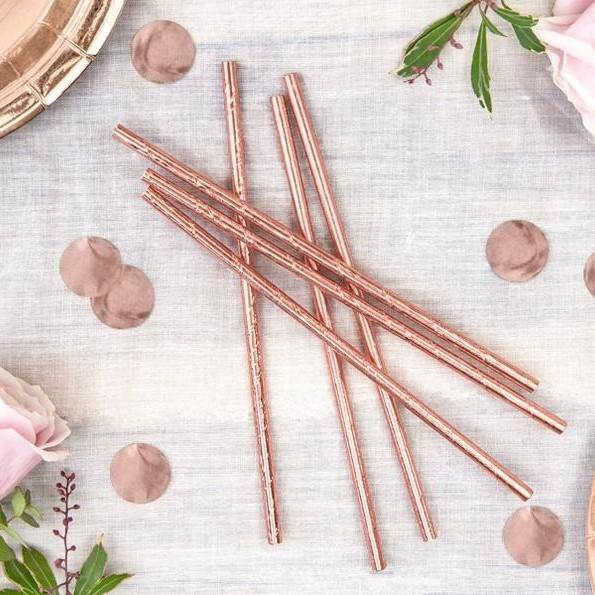 20 Rose Gold Straws - HoorayDays