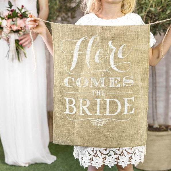 Here Comes The Bride Aisle Sign - HoorayDays