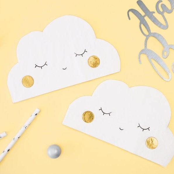 20 Cloud Napkins - HoorayDays