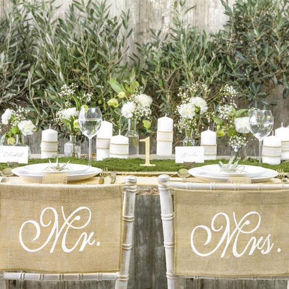 Mr and Mrs Chair Signs - HoorayDays