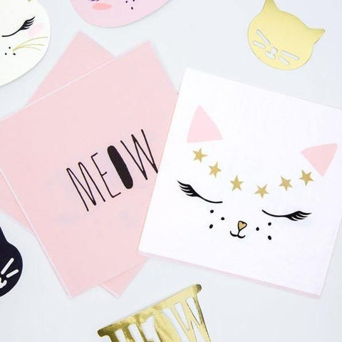 20 Cat Napkins - HoorayDays