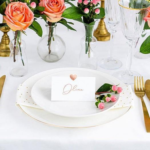 10 Rose Gold Place Cards - HoorayDays