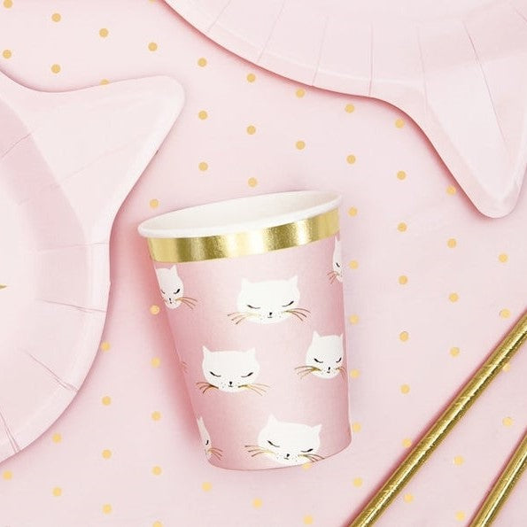 6 Cat Party Cups - HoorayDays