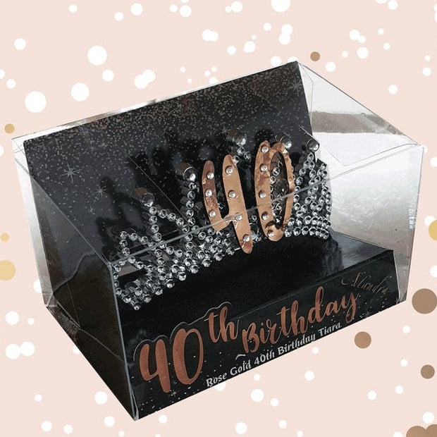 Rose Gold 40th Birthday Headband - HoorayDays