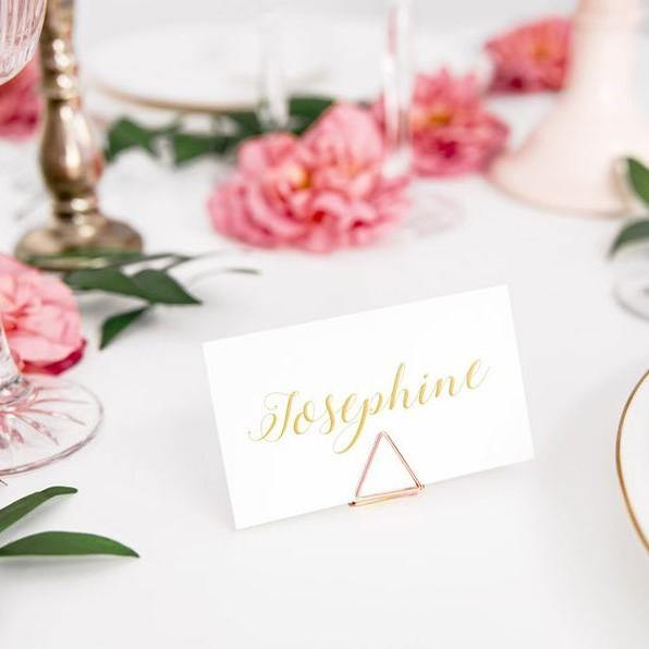 10 Rose Gold Place Card Holders - HoorayDays