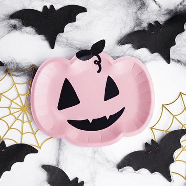 6 Halloween Pumpkin Plates - HoorayDays