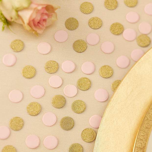 Pink and Gold Glitter Confetti - HoorayDays