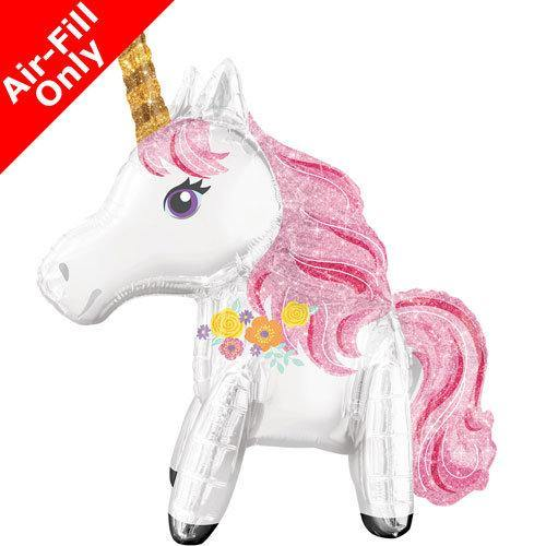 25 Inch Standing Unicorn Balloon, Unicorn Party, Girls Birthday Party, Party Balloons, Party Decorations