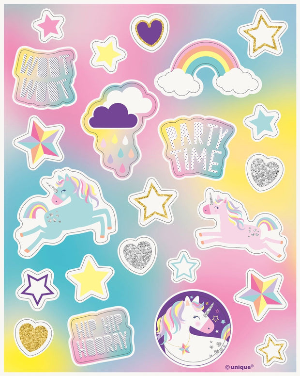 Rainbow Unicorn Stickers - HoorayDays