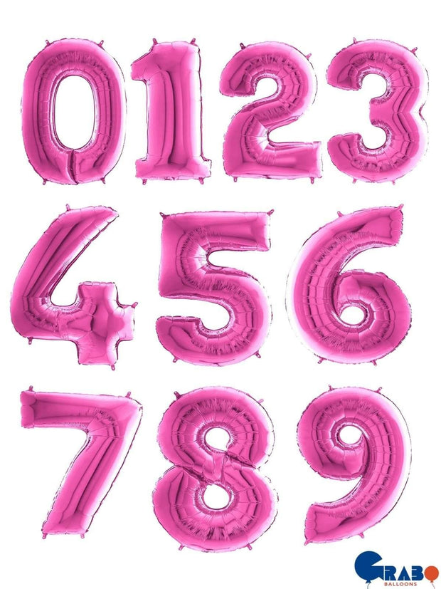 26 Inch Pink Number Balloons - HoorayDays
