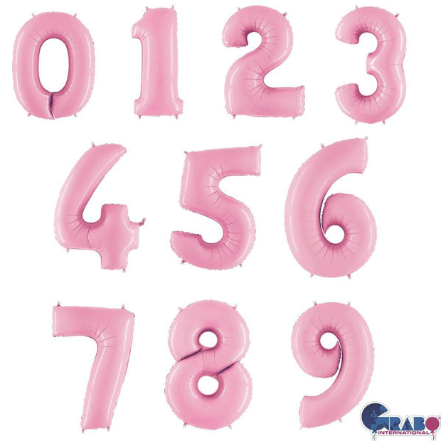 26 Inch Pastel Pink Number Balloons - HoorayDays