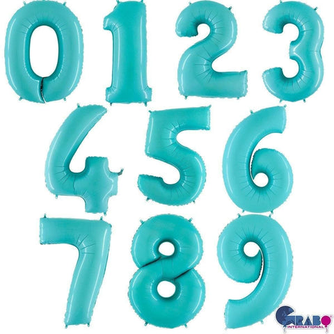 14 inch Pastel Blue Number Balloons - HoorayDays