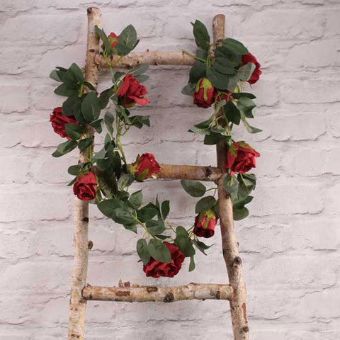 Red Rose Flower Garland - HoorayDays