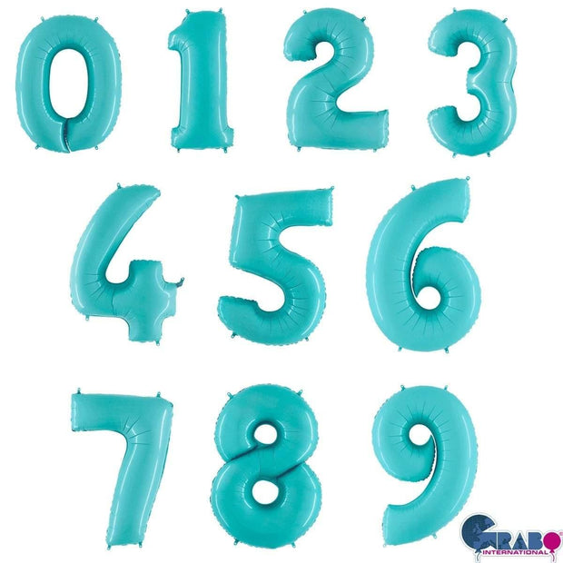 26 Inch Pastel Blue Number Balloons - HoorayDays