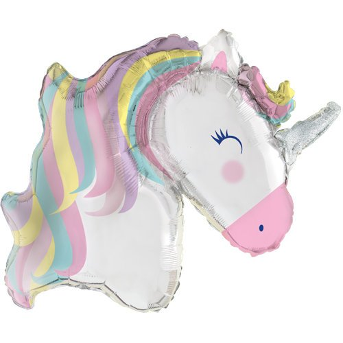 42 Inch Unicorn Head Balloon - HoorayDays