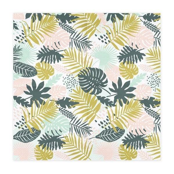20 Tropical Leaf Napkins - HoorayDays