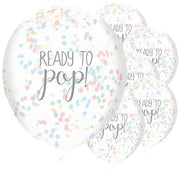 5 Ready to Pop Rainbow Confetti Balloons - HoorayDays