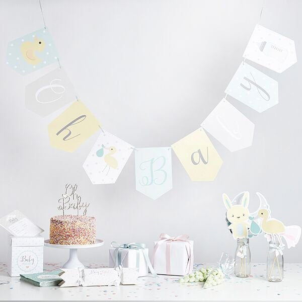 Neutral Baby Shower Bunting - HoorayDays