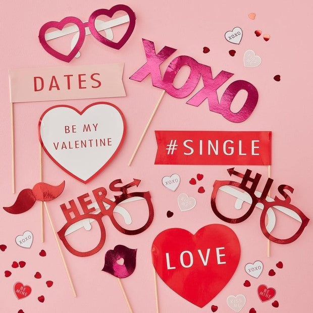 10 Pink and Red Valentines Photo Props - HoorayDays