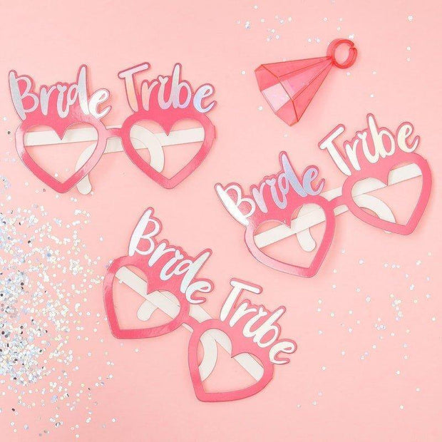 1 Bride Tribe Hen Party Glasses, Pink Hen Party Glasses, Bachelorette Props, Bridal Party Glasses, Bachelorette Party, Photo Booth Props