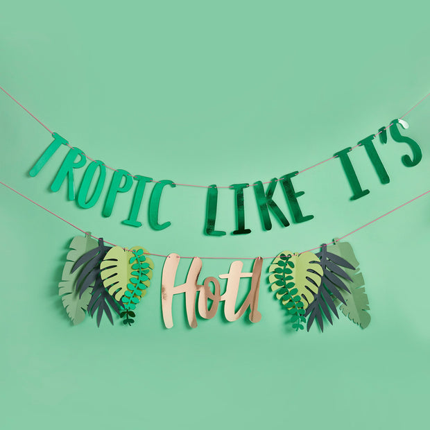 Tropical Party Garland - HoorayDays