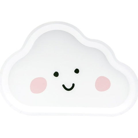 6 Cloud Party Plates - HoorayDays