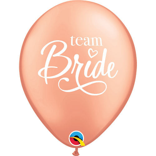 6 Rose Gold Team Bride Balloons - HoorayDays