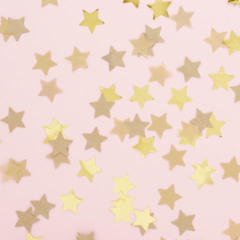 Gold Star Party Confetti - HoorayDays