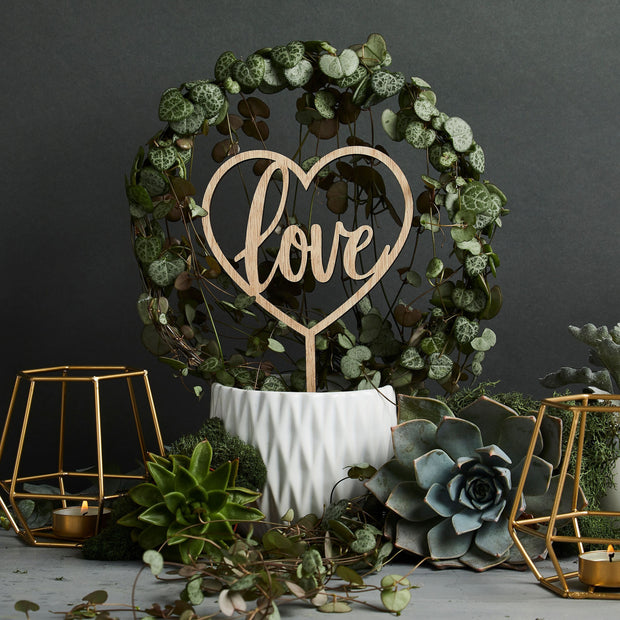 Wooden Love Cake Topper - HoorayDays