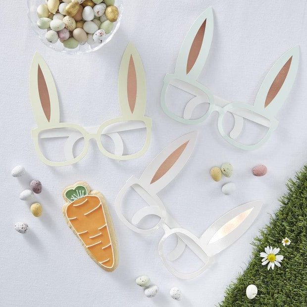 8 Rose Gold Bunny Rabbit Photo Props - HoorayDays