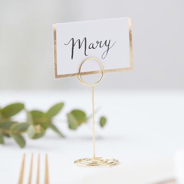 Gold Metal Place Card Holder - HoorayDays