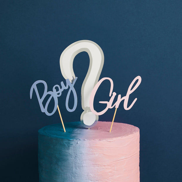 Gender Reveal Cake Toppers - HoorayDays