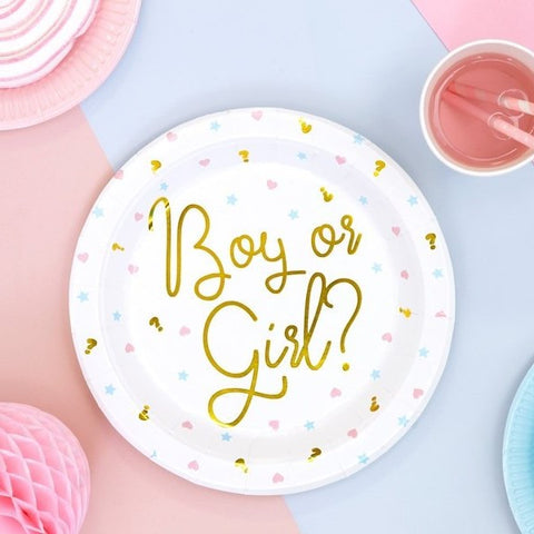 6 Gold Boy or Girl Plates - HoorayDays