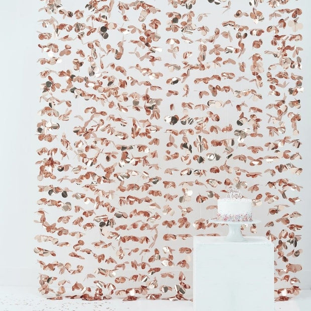 Rose Gold Petal Curtain - HoorayDays