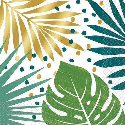 16 Tropical Leaf Napkins - HoorayDays