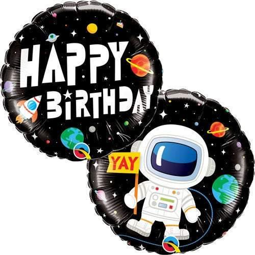 18 Inch Happy Birthday Space Balloon - HoorayDays