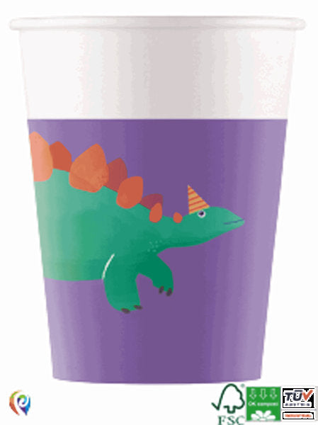 8 Dinosaur Party Cups - HoorayDays